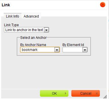 CKEditor link